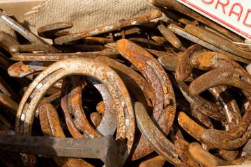 rusty horseshoes