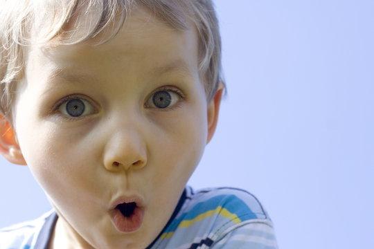 suprised boy