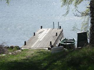a romantic dock