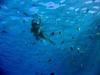 taking pictures underwater