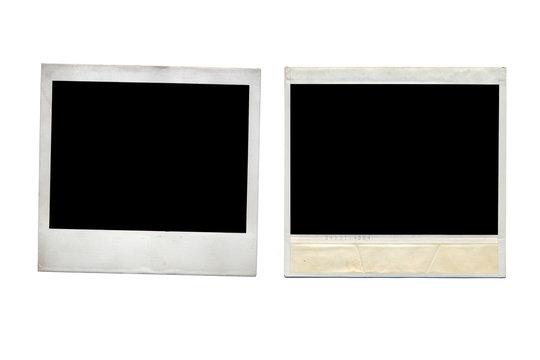 polaroids on white