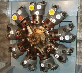 modell eines sternmotors