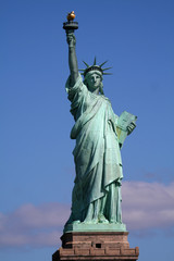 statue of liberty on stand