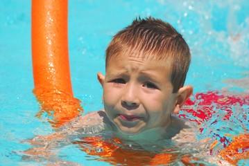 swimming boy five
