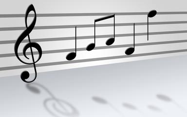 musical score - white