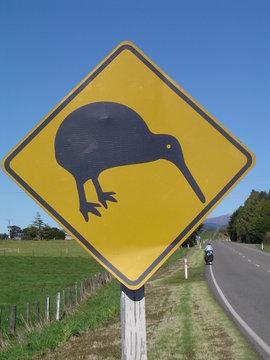 panneau de signalisation - kiwi