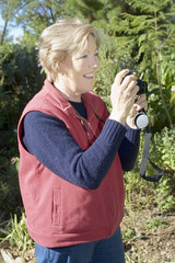 lady taking photographs