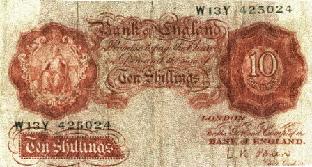 british ancient 10 shillings