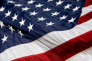 usa flag billowing