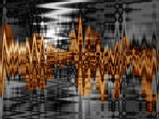professional golden sound wave