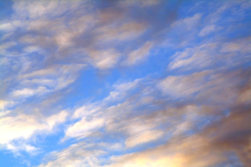 clouds and blue, background