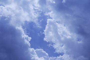 ciel, nuages et soleil