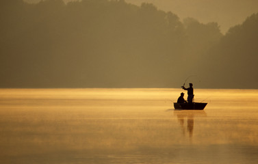 Canvas Prints Fishing anglers fishing