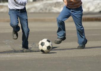 to run behind a ball.