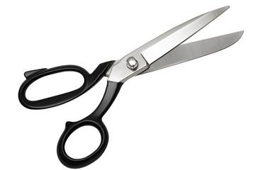scissors, (top view) w/ path