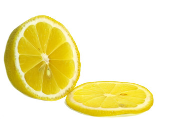 limon on a white background