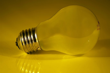 bulb on a yellow background
