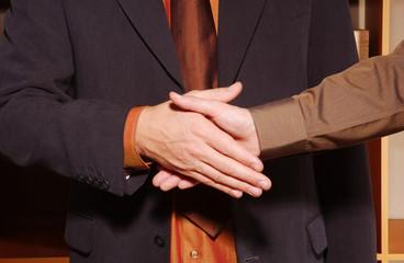 main d hommes d affaires