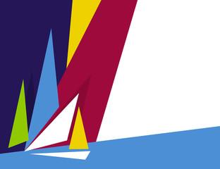 abstract sailing