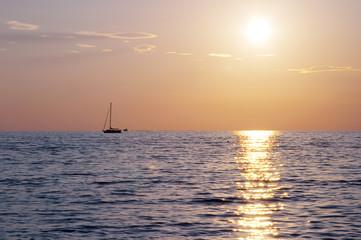 spectacular sea sunset