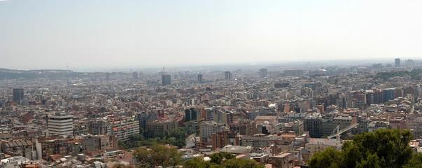 panorama view of barcelona, spain