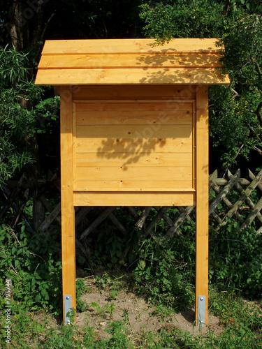 informationstafel aus holz stockfotos und lizenzfreie bilder auf bild 795744. Black Bedroom Furniture Sets. Home Design Ideas