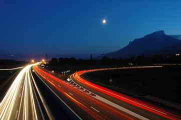 Keuken foto achterwand Nacht snelweg autoroute nuit