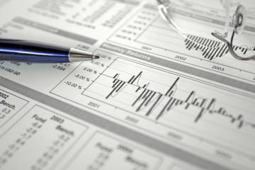 finances, graphiques, statistiques, plume 3