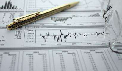 finances, graphiques, statistiques, stylo