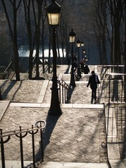 escaliers montmartre