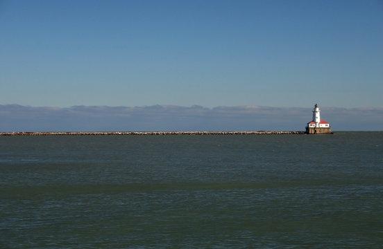 light house on the lake