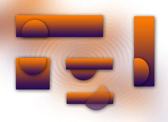 orange and purple logoset