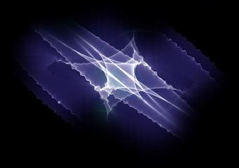 blue fractal waves
