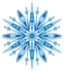 snowflake w clipping path