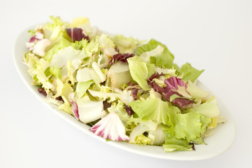 plate of mixed salad