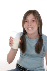 little girl drinking milk 3