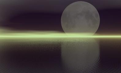 spooky moon landscape