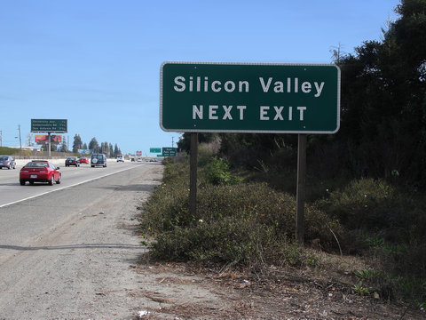 silicon valley traffic sign