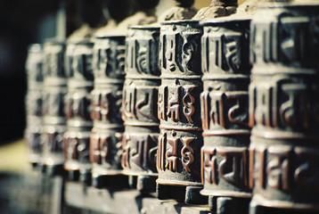 Photo sur Aluminium Népal prayer mills