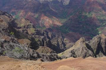 view of waimea canyon, island of kauai, hawaii