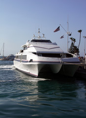 a newer ferry, servicing avalon, catalina island