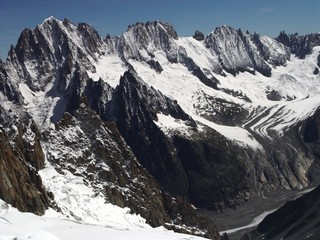 """view on """"mere de glace"""" from the mont blanc"""