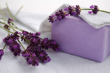 Photo Blinds Lavender savon, lavande et serviette