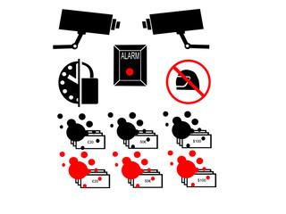 bank security symbols