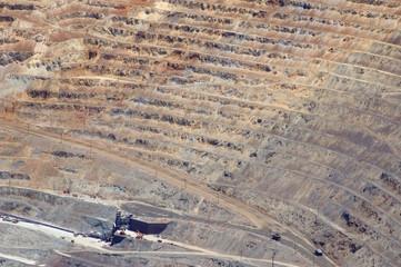 Aluminium Prints open pit mine