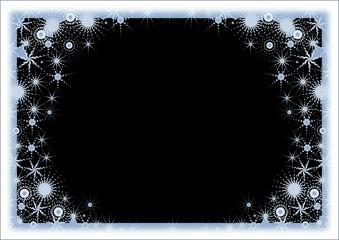 snow frame. black color