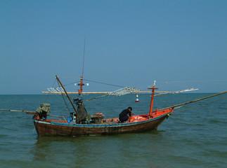 bateau, golfe de siam, thailande