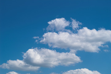 blue sky with white clouds at midday - image 22