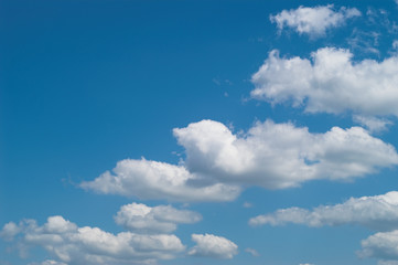 blue sky with white clouds at midday - image 23