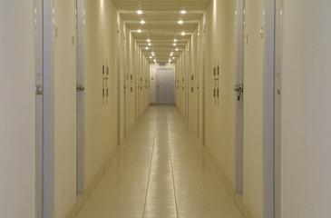 empty corridor with doors
